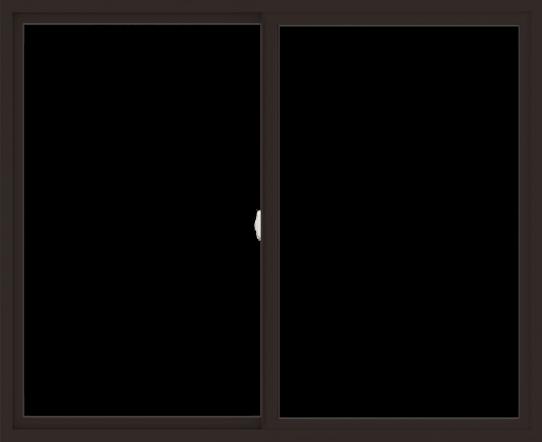WDMA 66x54 (65.5 x 53.5 inch) Vinyl uPVC Dark Brown Slide Window without Grids Interior