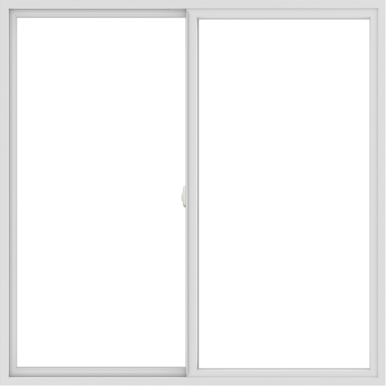 WDMA 66x66 (65.5 x 65.5 inch) Vinyl uPVC White Slide Window without Grids Interior