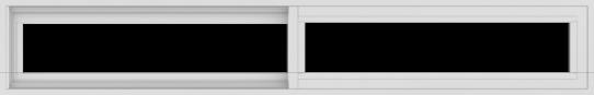 WDMA 72x12 (71.5 x 11.5 inch) Vinyl uPVC White Slide Window without Grids Exterior