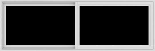 WDMA 72x24 (71.5 x 23.5 inch) Vinyl uPVC White Slide Window without Grids Interior