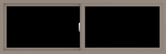 WDMA 72x24 (71.5 x 23.5 inch) Vinyl uPVC Brown Slide Window without Grids Interior