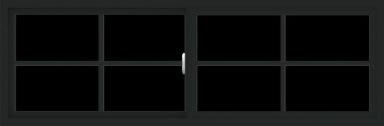 WDMA 72x24 (71.5 x 23.5 inch) Vinyl uPVC Black Slide Window with Colonial Grids Exterior