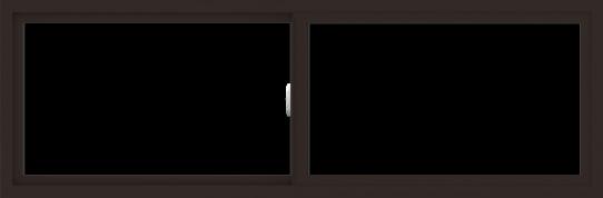WDMA 72x24 (71.5 x 23.5 inch) Vinyl uPVC Dark Brown Slide Window without Grids Interior