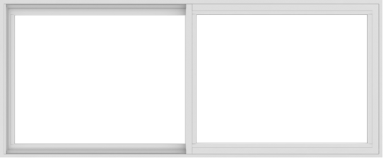 WDMA 72x30 (71.5 x 29.5 inch) Vinyl uPVC White Slide Window without Grids Interior