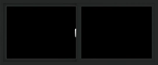 WDMA 72x30 (71.5 x 29.5 inch) Vinyl uPVC Black Slide Window without Grids Interior