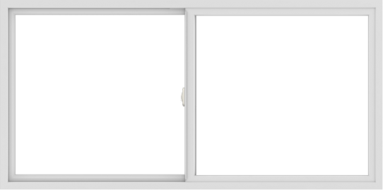 WDMA 72x36 (71.5 x 35.5 inch) Vinyl uPVC White Slide Window without Grids Interior