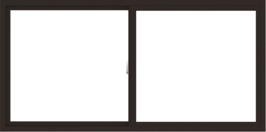 WDMA 72x36 (71.5 x 35.5 inch) Vinyl uPVC Dark Brown Slide Window without Grids Interior