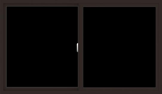 WDMA 72x42 (71.5 x 41.5 inch) Vinyl uPVC Dark Brown Slide Window without Grids Interior