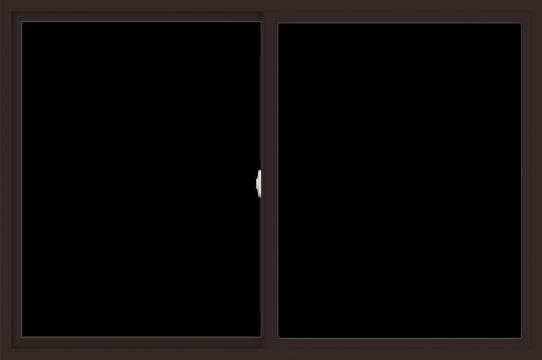 WDMA 72x48 (71.5 x 47.5 inch) Vinyl uPVC Dark Brown Slide Window without Grids Interior