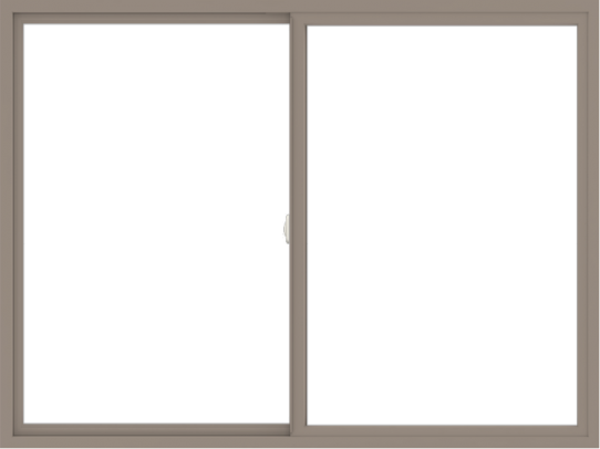 WDMA 72x54 (71.5 x 53.5 inch) Vinyl uPVC Brown Slide Window without Grids Interior