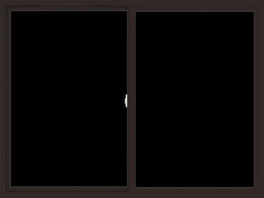 WDMA 72x54 (71.5 x 53.5 inch) Vinyl uPVC Dark Brown Slide Window without Grids Interior
