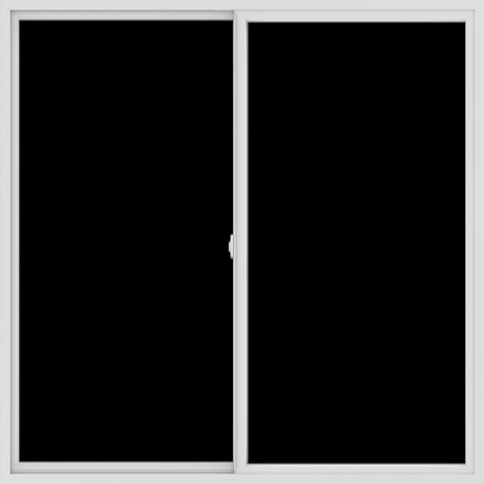 WDMA 72x72 (71.5 x 71.5 inch) Vinyl uPVC White Slide Window without Grids Interior
