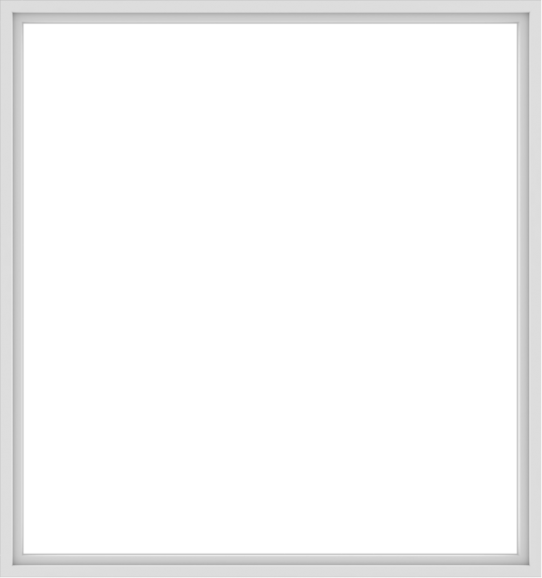 WDMA 90x96 (89.5 x 95.5 inch) Vinyl uPVC White Picture Window without Grids-1