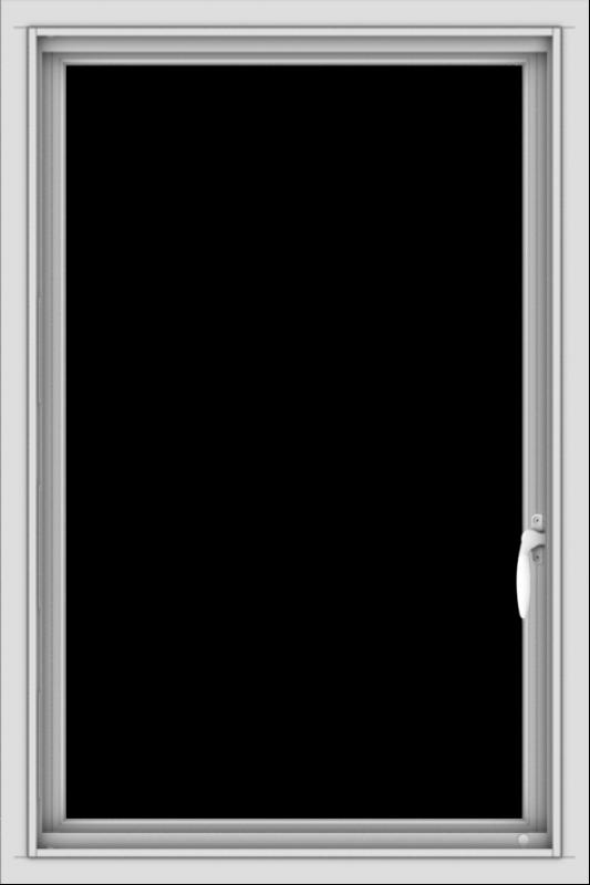 WDMA 24x36 (23.5 x 35.5 inch) black uPVC/Vinyl Push out Casement Window without Grids Interior