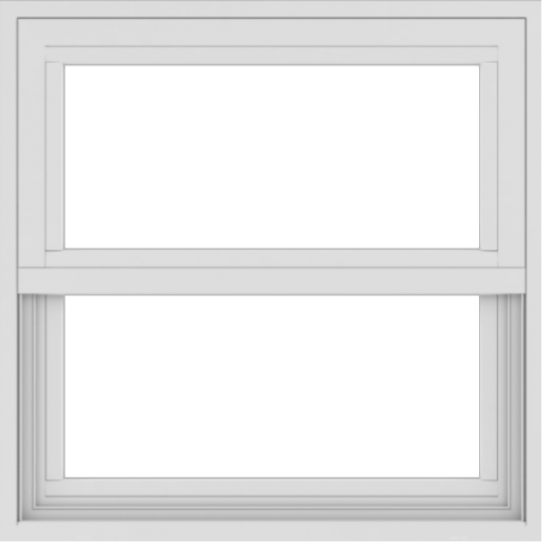 WDMA 24x24 (23.5 x 23.5 inch) White Aluminum Single and Double Hung Window without grids exterior