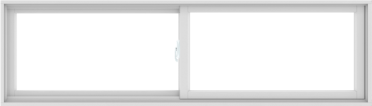 WDMA 84X24 (83.5 x 23.5 inch) White uPVC/Vinyl Sliding Window without Grids Interior