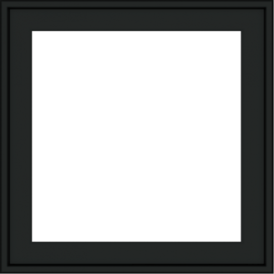 WDMA 24x24 (23.5 x 23.5 inch) black uPVC/Vinyl Crank out Awning Window without grids exterior