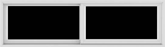 WDMA 84X24 (83.5 x 23.5 inch) White uPVC/Vinyl Sliding Window without Grids Exterior