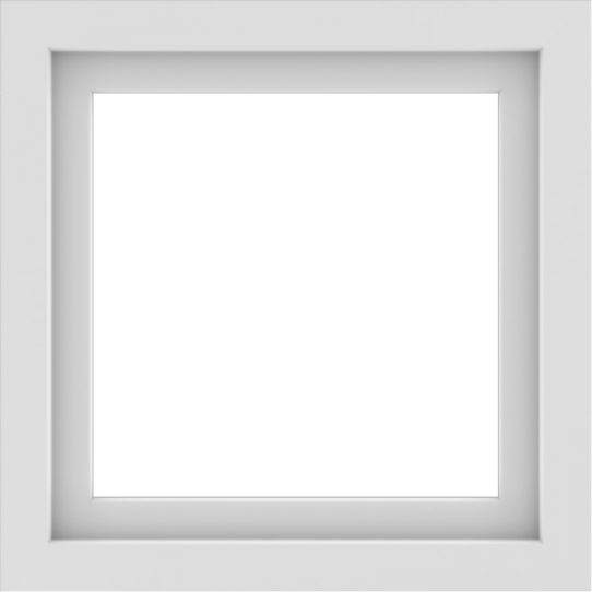 WDMA 24x24 (23.5 x 23.5 inch) White uPVC/Vinyl Picture Window without Grids Interior