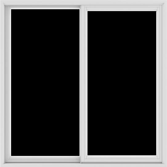 WDMA 60X60 (59.5 x 59.5 inch) White uPVC/Vinyl Sliding Window without Grids Exterior