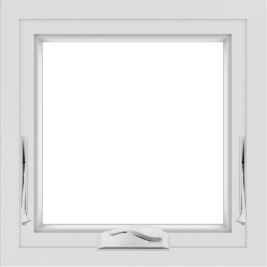 WDMA 24x24 (23.5 x 23.5 inch) White Aluminum Crank out Awning Window without Grids Interior