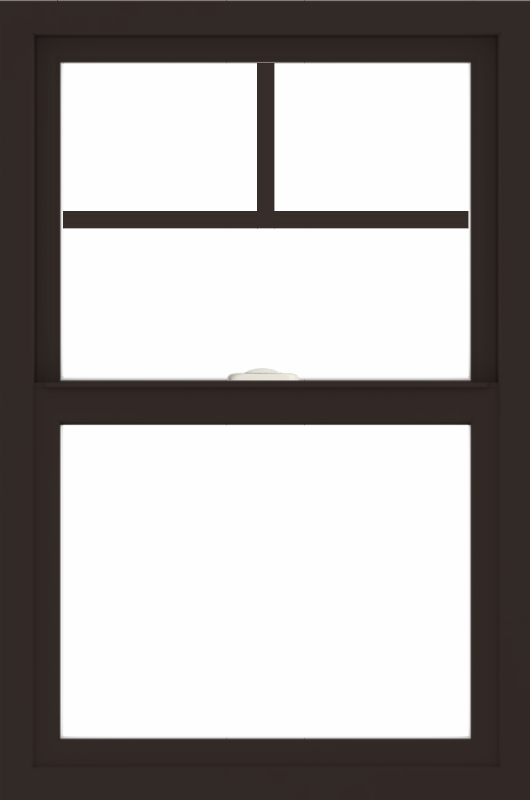 WDMA 24x36 (23.5 x 35.5 inch) Dark Bronze aluminum Single and Double Hung Window with Fractional Grilles
