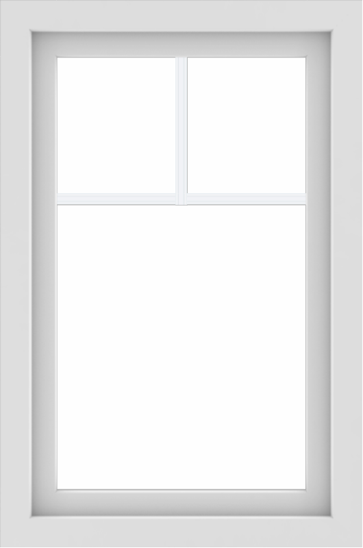 WDMA 24x36 (23.5 x 35.5 inch) black uPVC/Vinyl Picture Window with Fractional Grilles Exterior