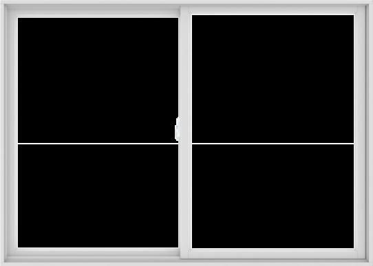 WDMA 84X60 (83.5 x 59.5 inch) White uPVC/Vinyl Sliding Window without Grids Interior