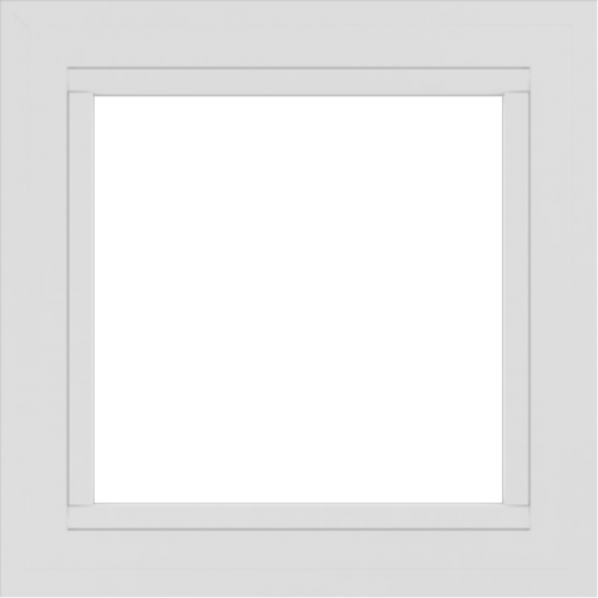 WDMA 24x24 (23.5 x 23.5 inch) White uPVC/Vinyl Picture Window without grids exterior