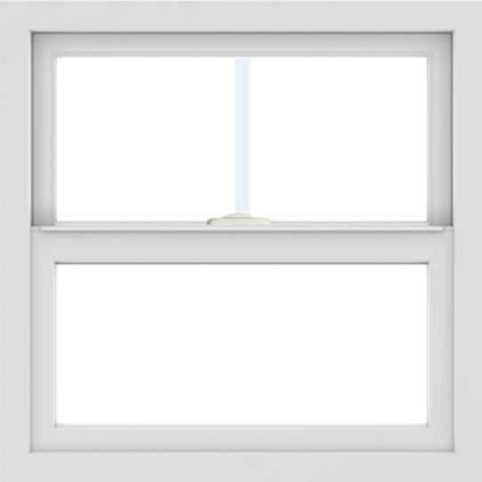 WDMA 24x24 (23.5 x 23.5 inch) White Aluminum Single and Double Hung Window with Top Colonial Grids