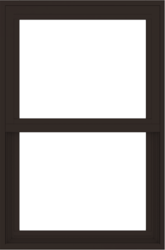 WDMA 24x36 (23.5 x 35.5 inch) Dark Bronze aluminum Single and Double Hung Window without grids exterior