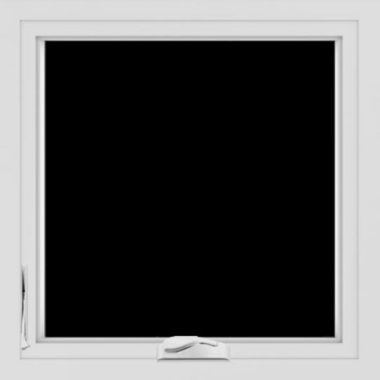 WDMA 24x24 (23.5 x 23.5 inch) White uPVC/Vinyl Crank out Casement Window without Grids