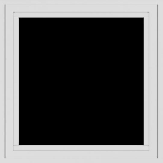 WDMA 24x24 (23.5 x 23.5 inch) White uPVC/Vinyl Crank out Casement Window without grids exterior