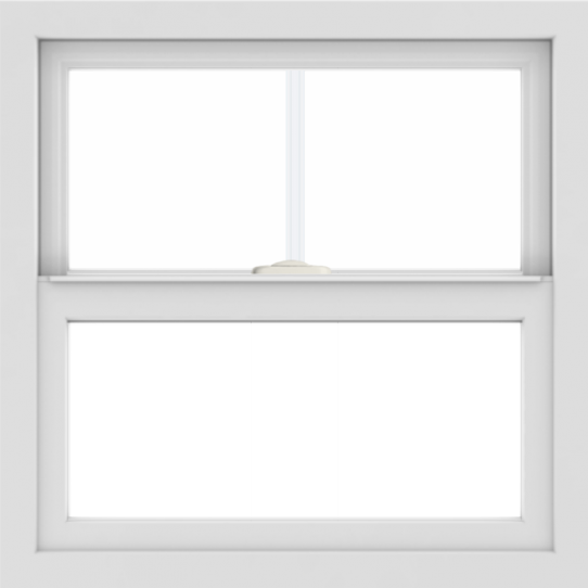 WDMA 24x24 (23.5 x 23.5 inch) White Aluminum Single and Double Hung Window with Fractional Grilles