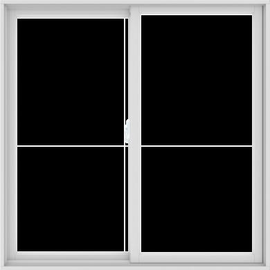 WDMA 60X60 (59.5 x 59.5 inch) White uPVC/Vinyl Sliding Window without Grids Interior