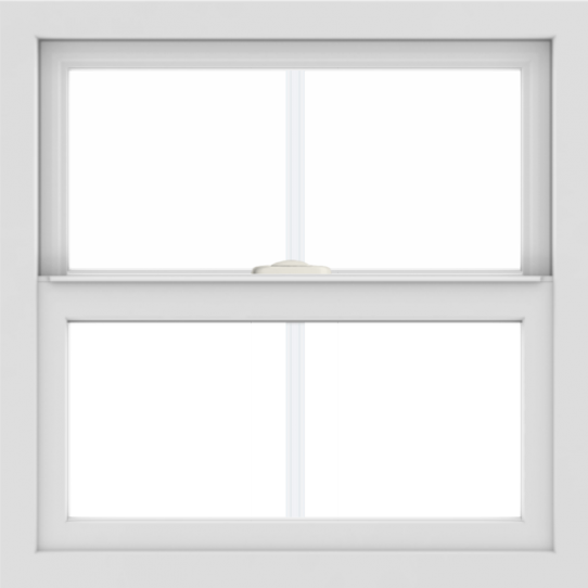 WDMA 24x24 (23.5 x 23.5 inch) White Aluminum Single and Double Hung Window with Colonial Grilles