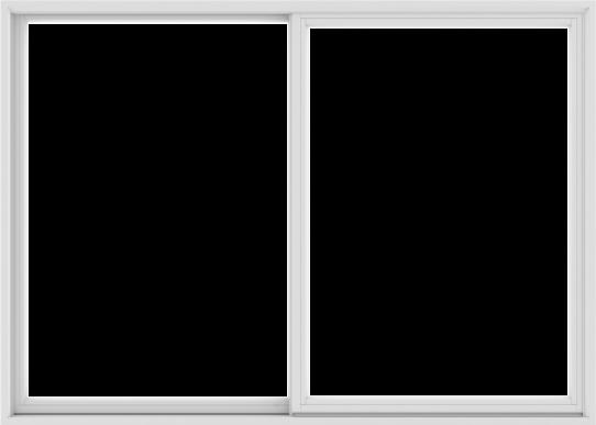 WDMA 84X60 (83.5 x 59.5 inch) White uPVC/Vinyl Sliding Window without Grids Exterior