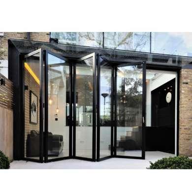 WDMA 16x8 Foot Insulated Clear Glass Folding Door fot Sale
