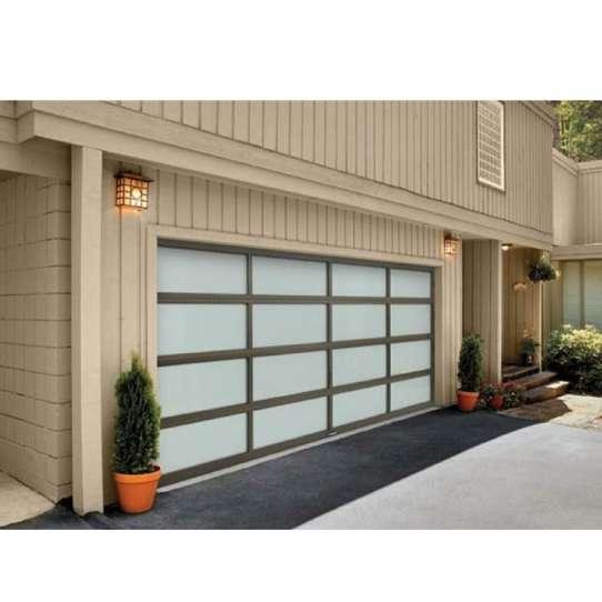 WDMA 16x8 Motor Open Style Transparent Folding Glass Garage Door