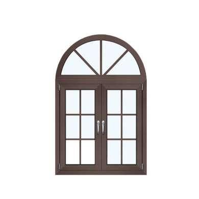 WDMA 36 X 48 Opening 180 Degree Powder Coating Glass Veranda Aluminium Round Top Casement Window