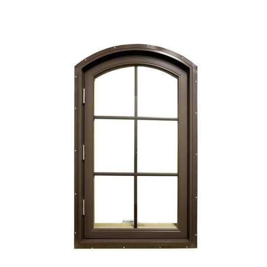 China WDMA 36 X 48 Opening 180 Degree Powder Coating Glass Veranda Aluminium Round Top Casement Window