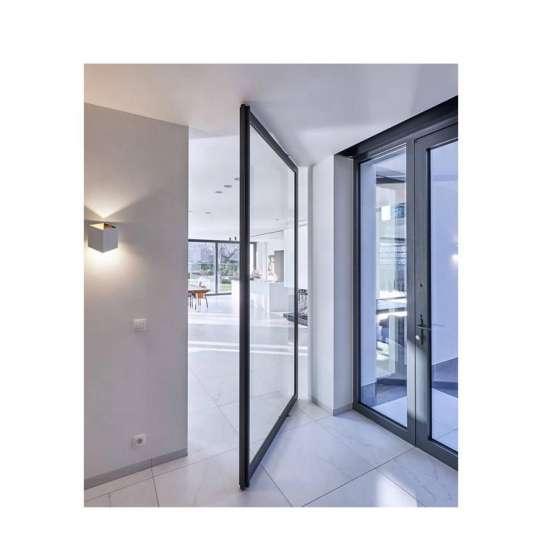 WDMA 360 Degree Interior Glass Hinge 2 Way Aluminium Floor Spring Glass Swing Door Gate Fabrication Price For Sale
