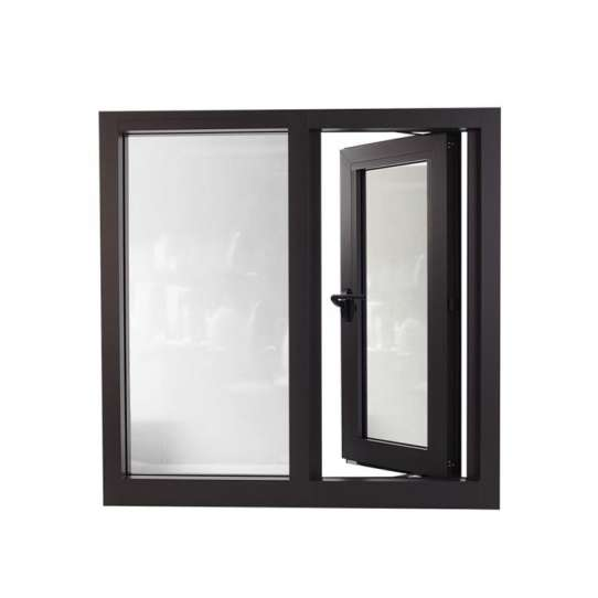 WDMA Affordable Tempered Smart Glass Aluminum Frame Casment Windows