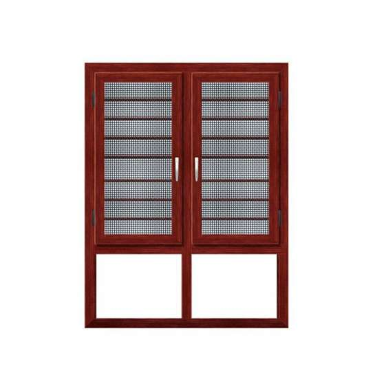 WDMA Airproof Curtain Standard 36 X 72 Double Leaf Sash Reflective Glass Outward Opening Push Out Shutter Casement Windows Sizes