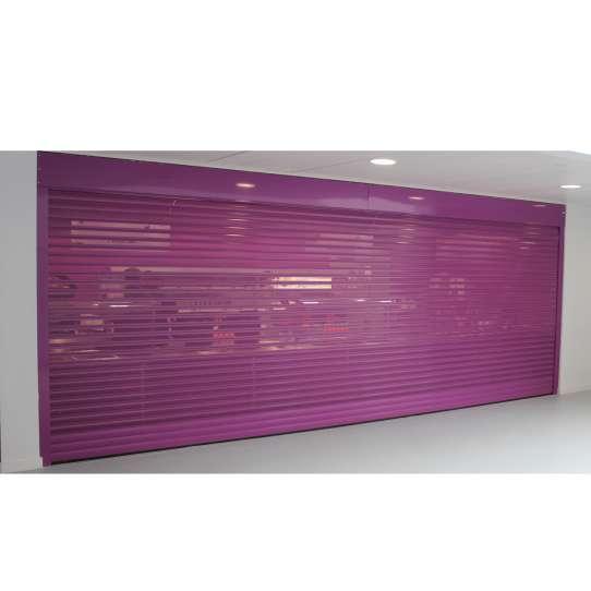 China WDMA Aluminium Alloy Carport Roller Shutter Door Remote Control Perforated Roller Shutter Door