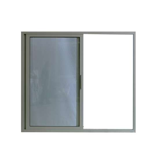 WDMA Aluminium Alloy Sliding Tempered Glass Office Front Window Door With Grill Design Price
