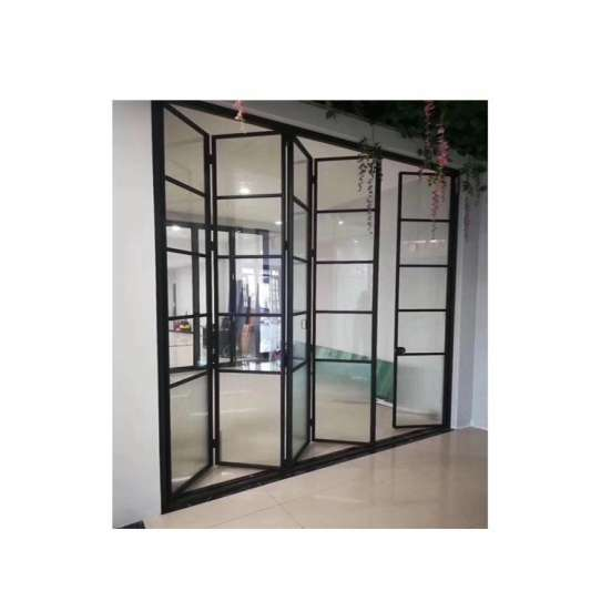 China WDMA Aluminium Comfort Room Bedroom 6 Panel Bi Fold Folding Sliding Door Interior Room Divider With Frame Design In Sunmica D