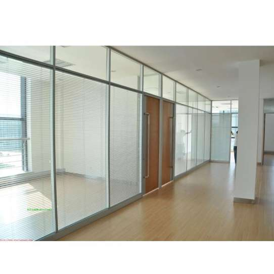 WDMA Aluminium Frame Office Half Glass Wall Partition Price
