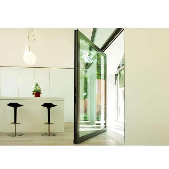 China WDMA Aluminium Pivot Entry Entrance Front Glazed Glass Panel Gates Exterior Door Spring Door Design