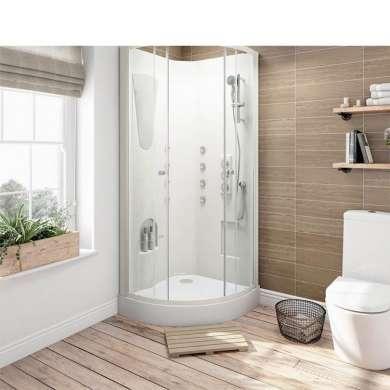 WDMA Aluminium Profile Bathroom Shower Double Sliding Door Shower Room Shower Cabin Enclosure